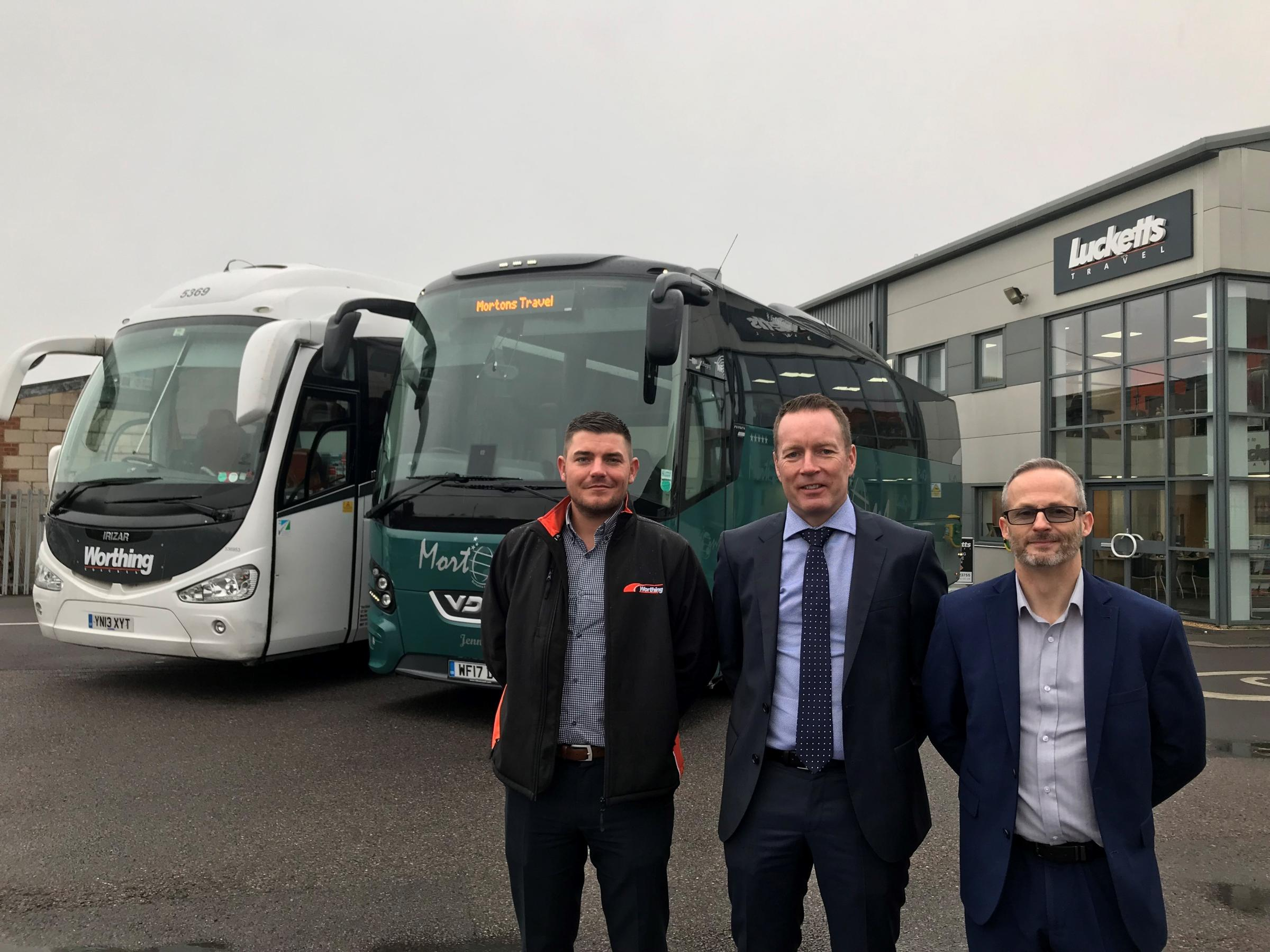 Daniel Havers (Commercial and Operations Manager Worthing Coaches), Murray Carter (Head of Operations), Stewart Isaac (Commercial and Operations Manager Mortons Travel)