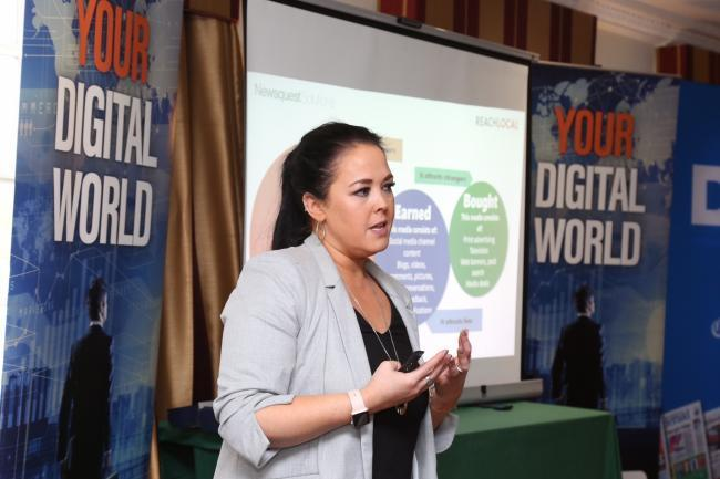 Digital marketing expert Rachael Dunn speaks at one of the Daily Echo's digital marketing seminars