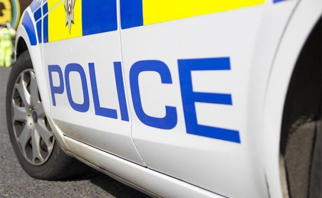 Police arrested a man on suspicion of theft in Marlbrough