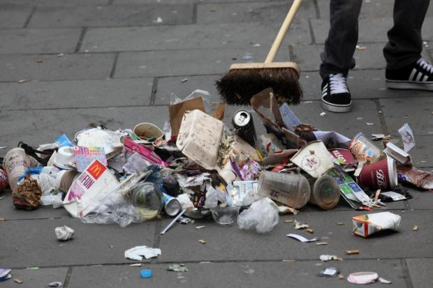Litter in Southampton (stock photo)