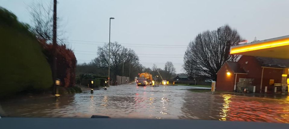 A32 closed in both directions between A334 Fareham Road and Bridge street due to flooding. Picture by Melanie Colwell.