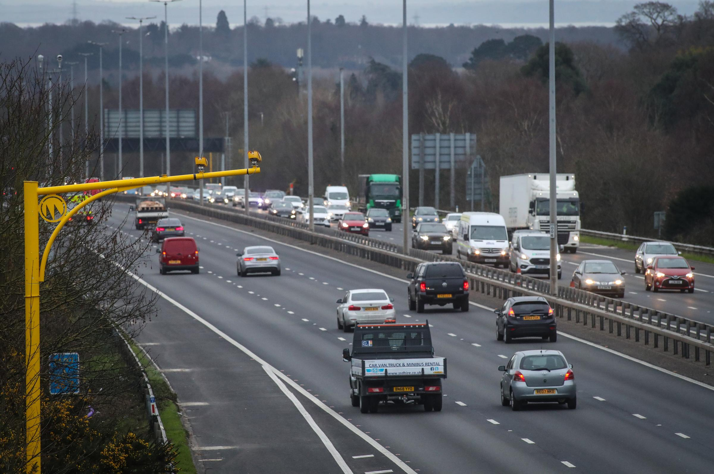Average speed cameras have been put in place on the M27 while the smart motorway upgrade is carried out.