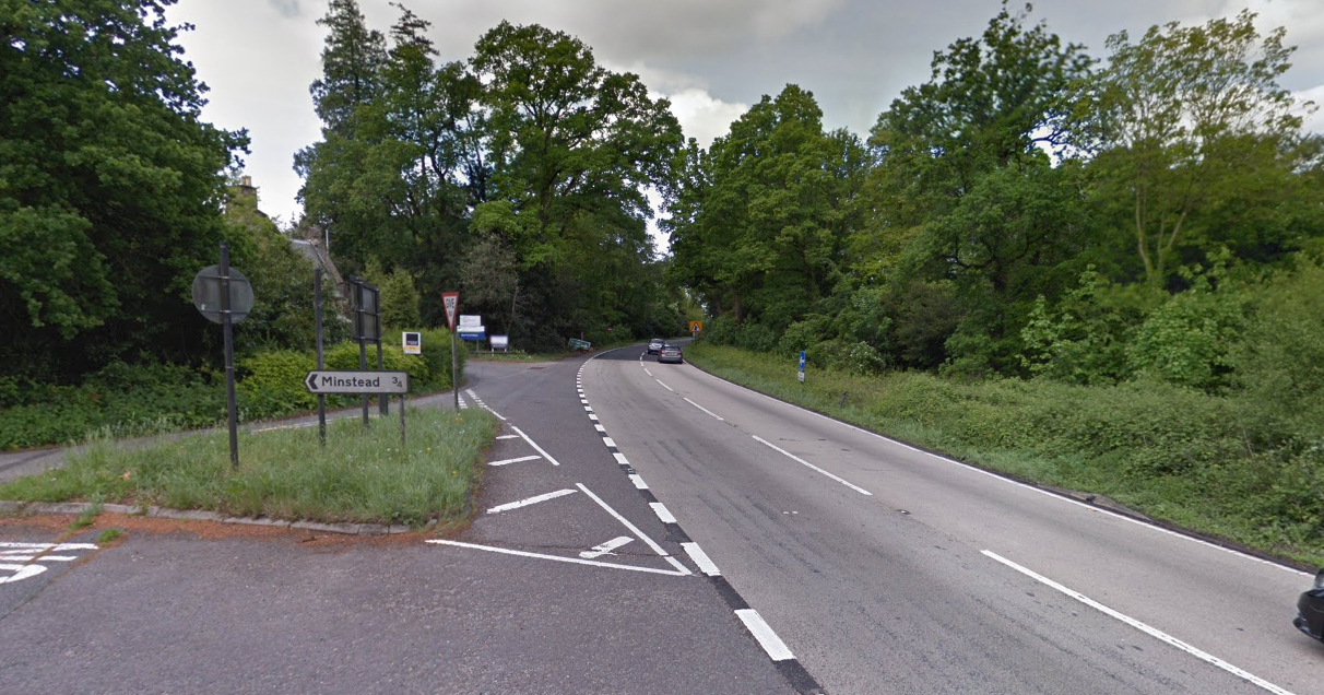 The A31 near the scene of the crash (pic: Google Maps)