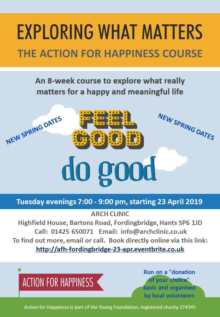 Action for Happiness Exploring What Matters Course