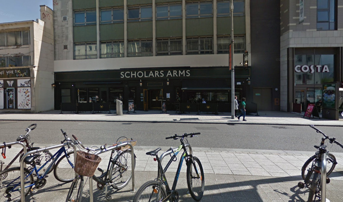 The Scholars Arms pub in Above Bar Street, Southampton. Photo: Google.