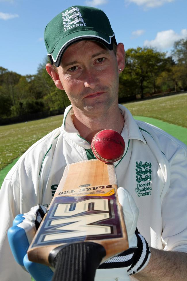 Disabled cricketer Rob Franks captained England disability cricket and also plays for Dorset disability cricket. ..SA300415spRobFranks10   PICTURE BY SALLY ADAMS.