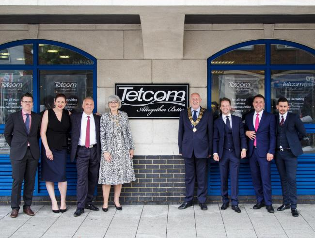 The opening of Tetcom's office in London Road last June.