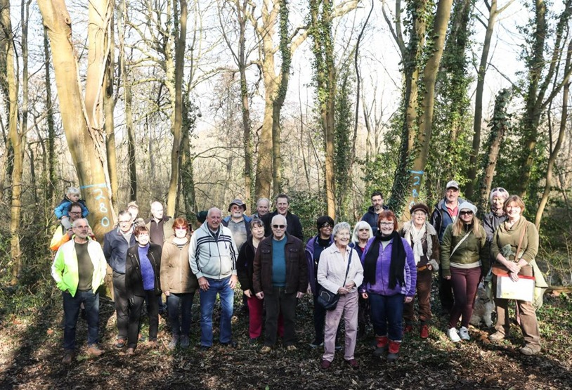 The people who are set to protest over plans for tree works at Marlhill Copse