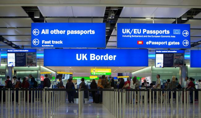 Embargoed to 0001 Monday June 13.File photo dated 04/06/14 of border control at Heathrow Airport.  With ten days to go to the EU Referendum one of the key issues in the debate is immigration. PRESS ASSOCIATION Photo. Issue date: Monday June 13, 2016. See