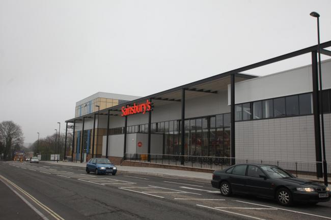 14 March 2012 - Opening of new Sainsbury's Store in Portswood on the former bus depot site. Exterior photos of the new store.