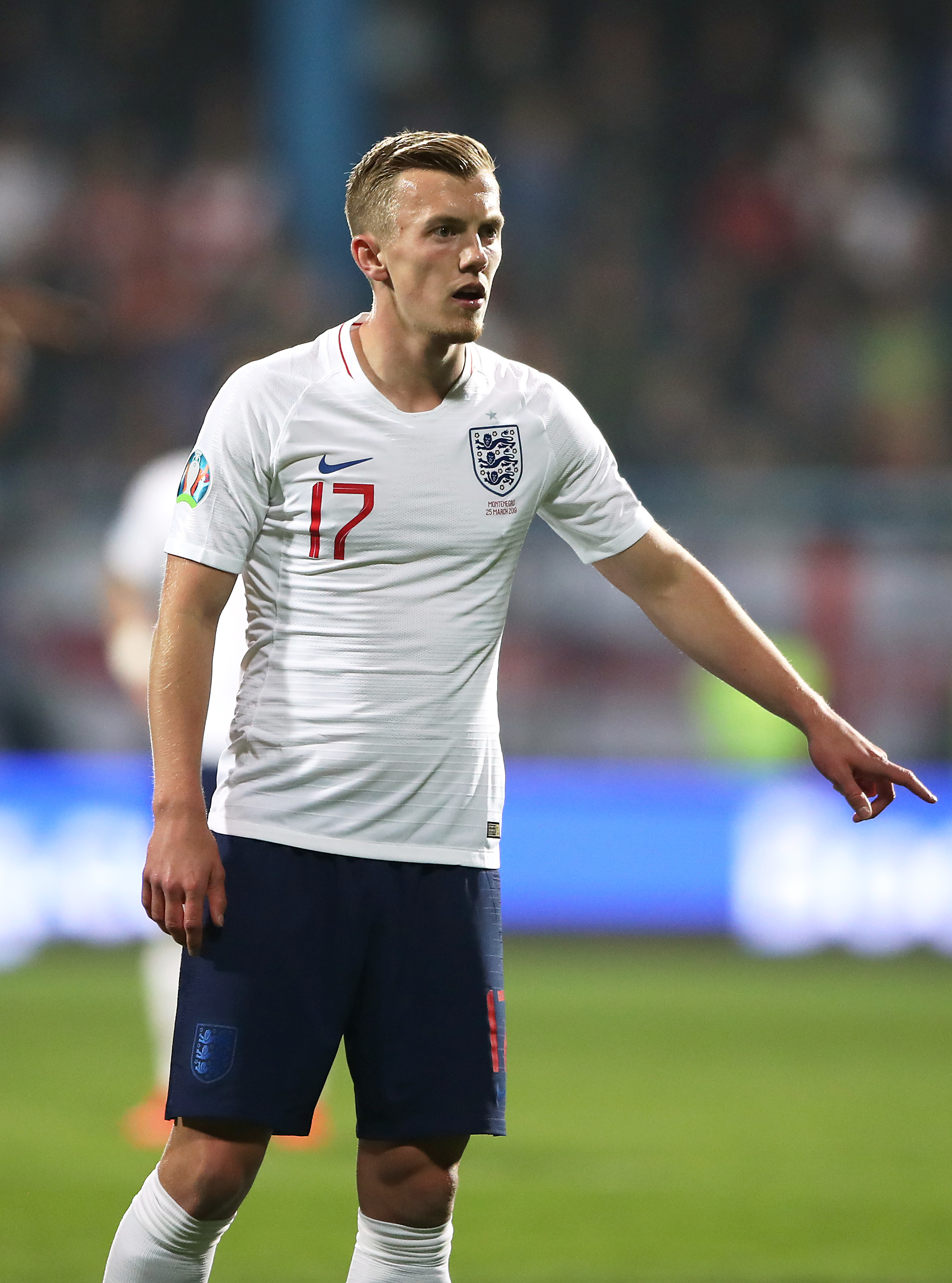 James Ward-Prowse in action for England against Montenegro