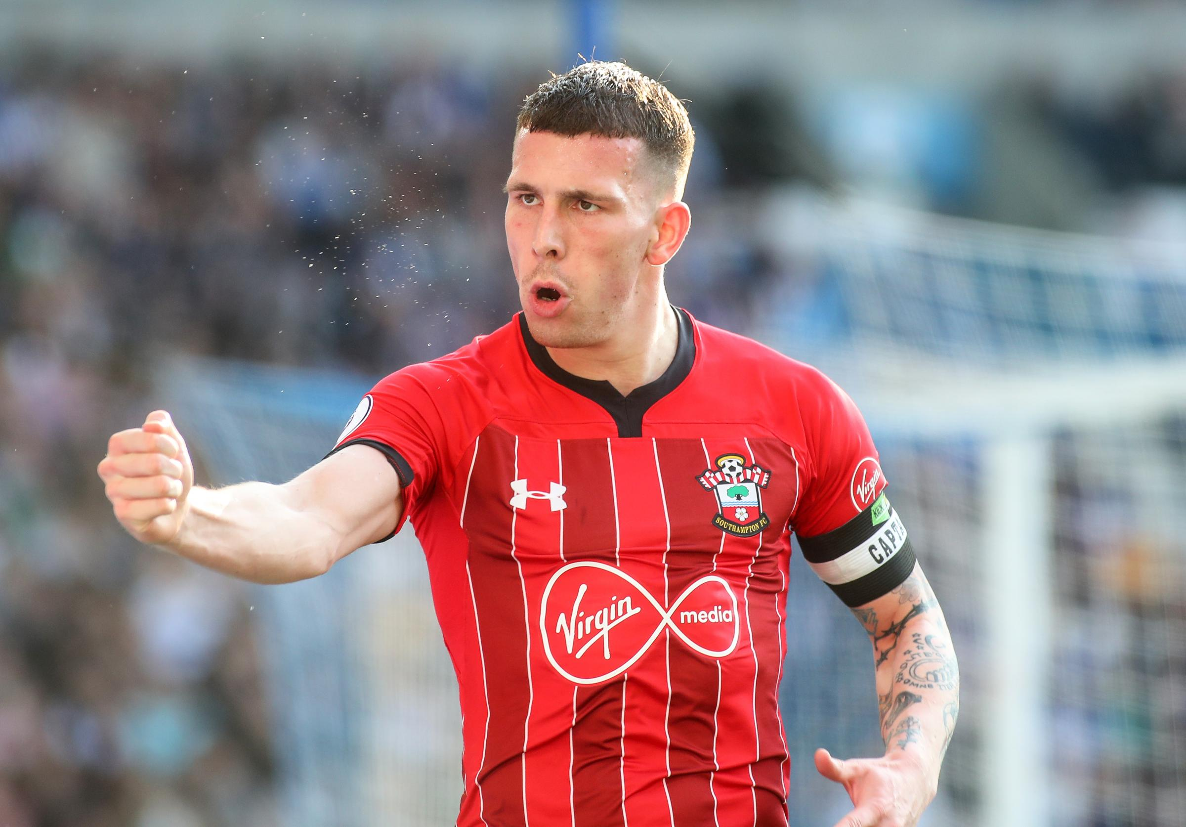 Southampton captain Pierre-Emile Hojbjerg ahead of the Brighton match