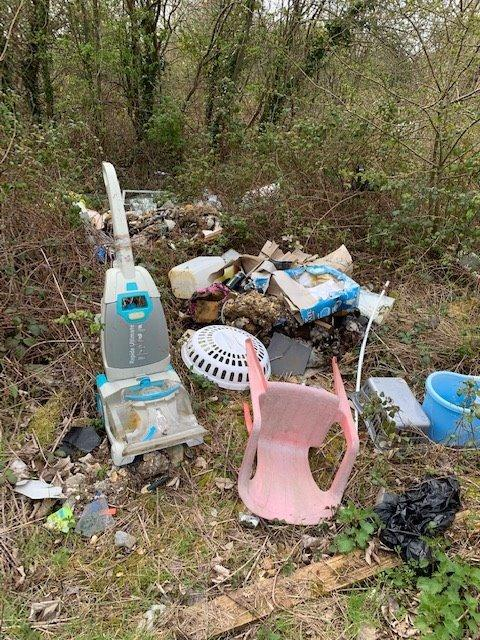 Rubbish has been dumped near homes in Calshot.