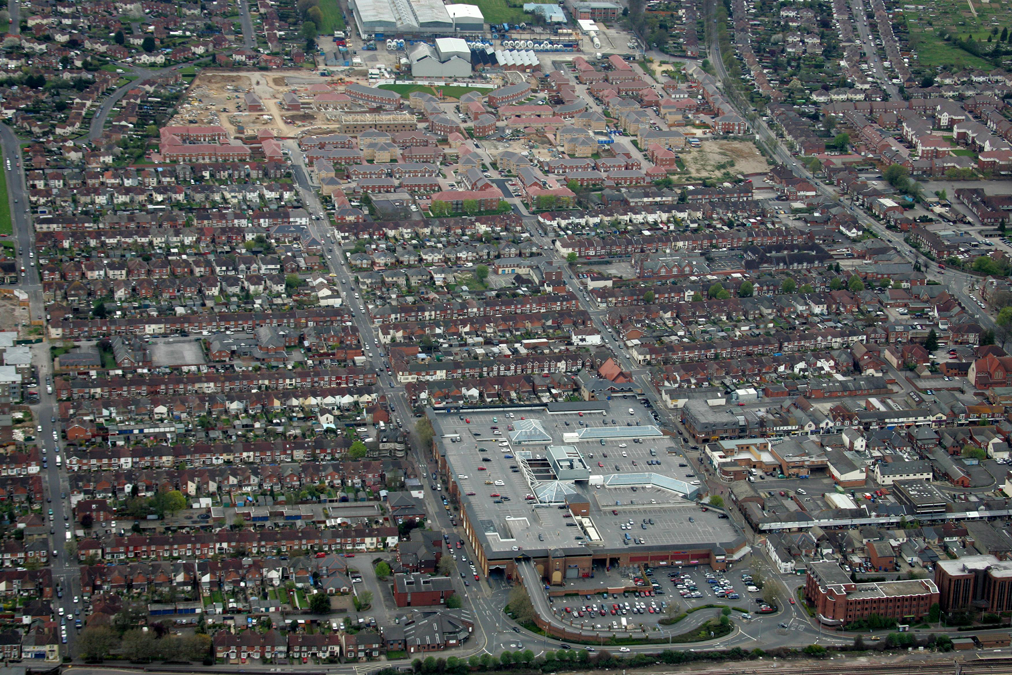 Eastleigh from the sky
