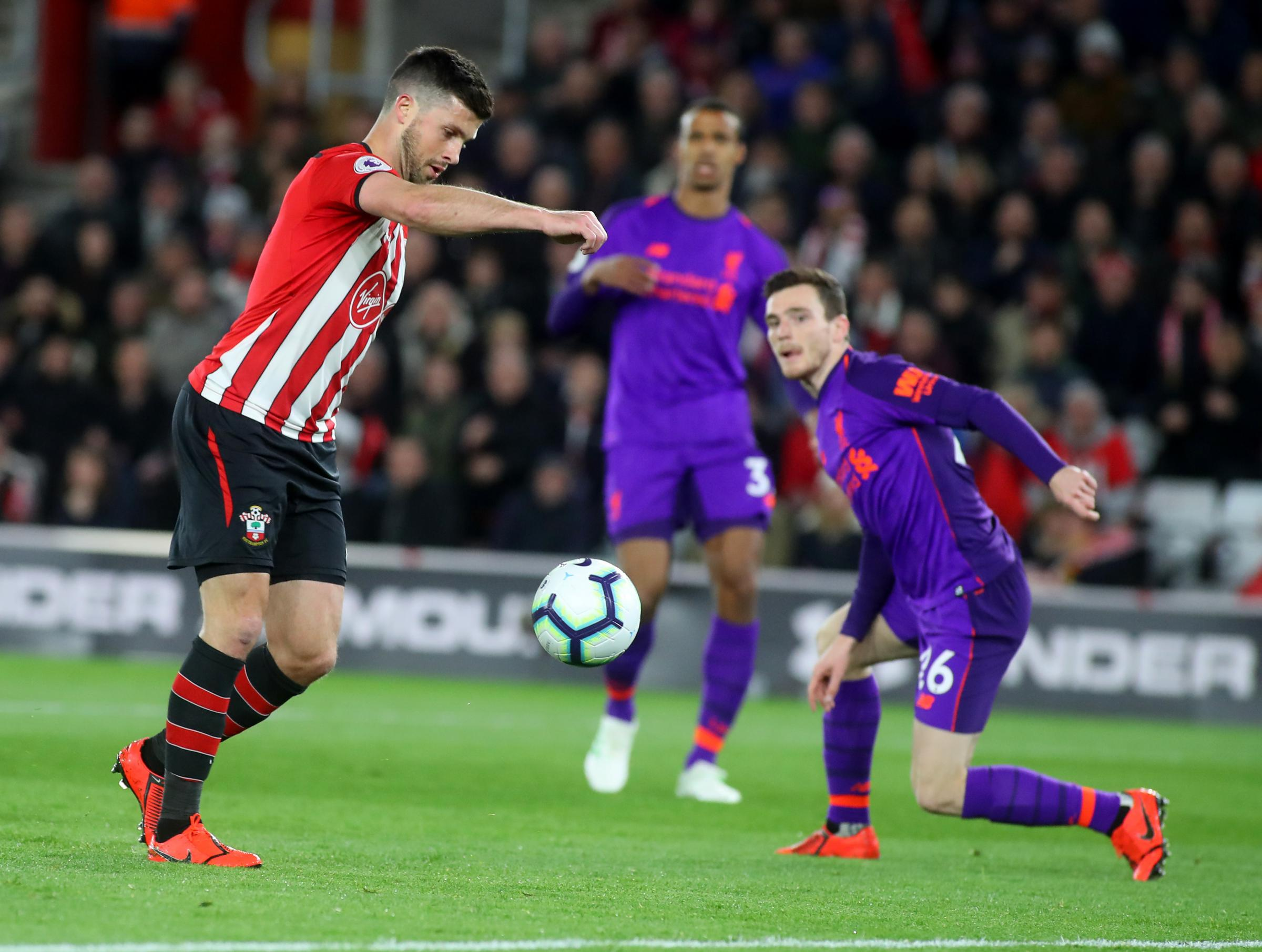 Shane Long scored his second goal of the season against Liverpool