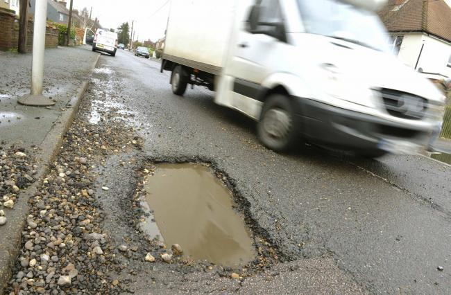 Repairs - the council will have a boosted fund to fill pot holes