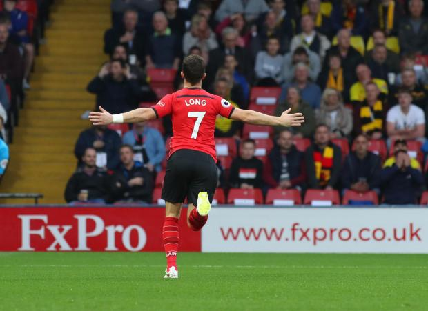 Daily Echo: Shane Long celebrates his goal against Watford