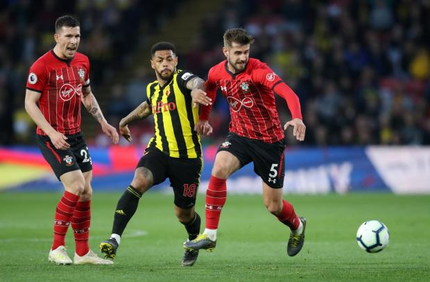 Daily Echo: Jack Stephens in action against Watford