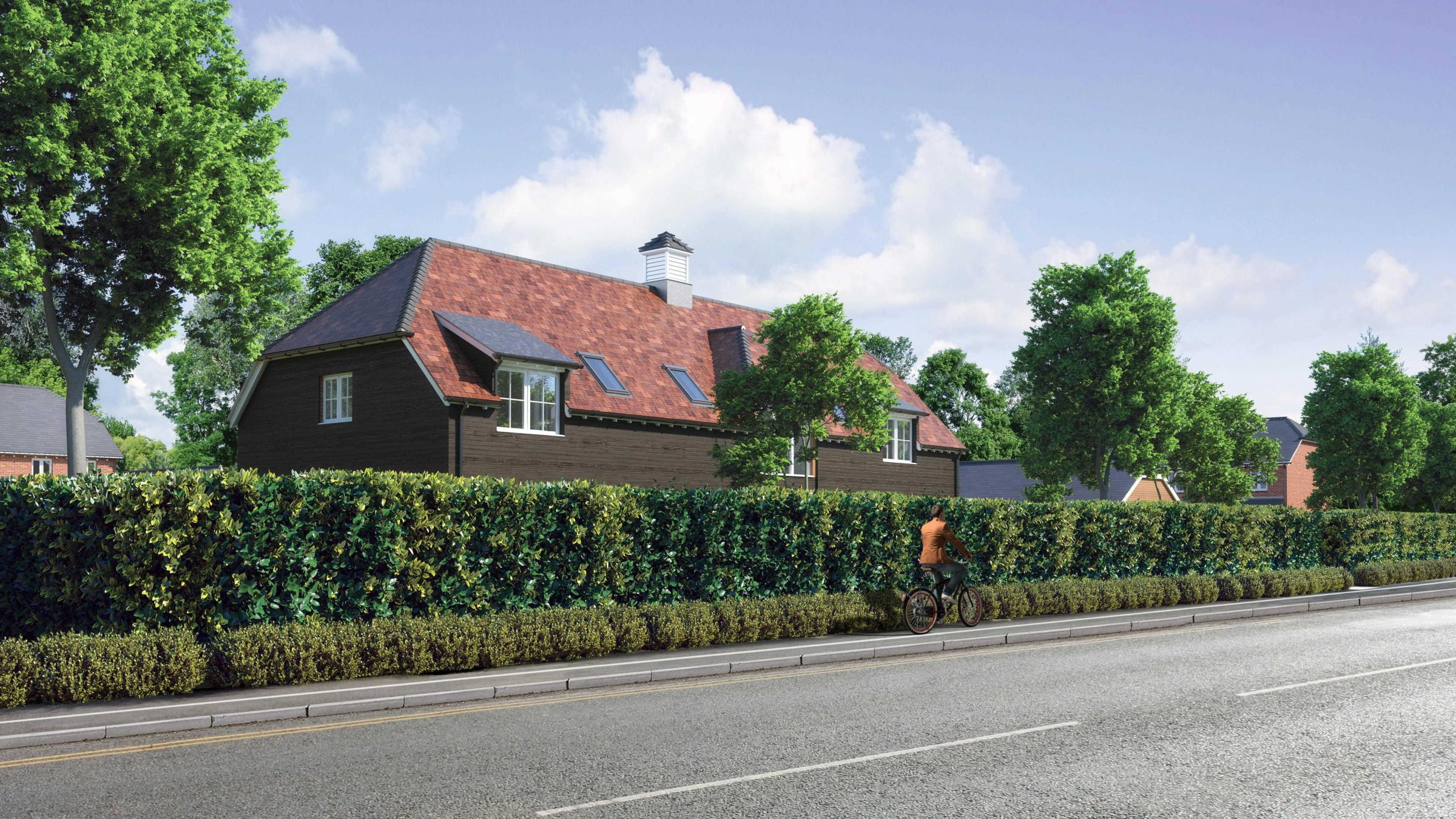 A compurer-generated image of the proposed development. Picture: Pennyfarthing Homes.
