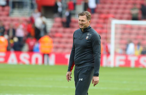 Daily Echo: Saints boss Ralph Hasenhuttl during the club's lap of honour