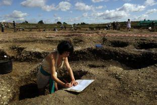 An archaeology student looks for hidden treasures
