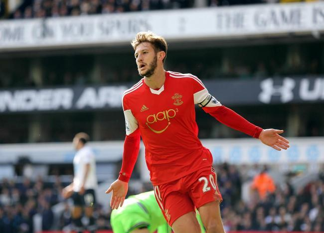 Adam Lallana in action for Saints