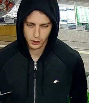 Police want to speak to this man after a bank card was stolen.