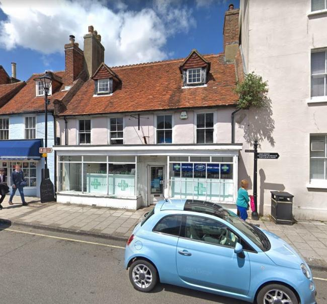 Boots Pharmacy in Lymington. Google Street View.