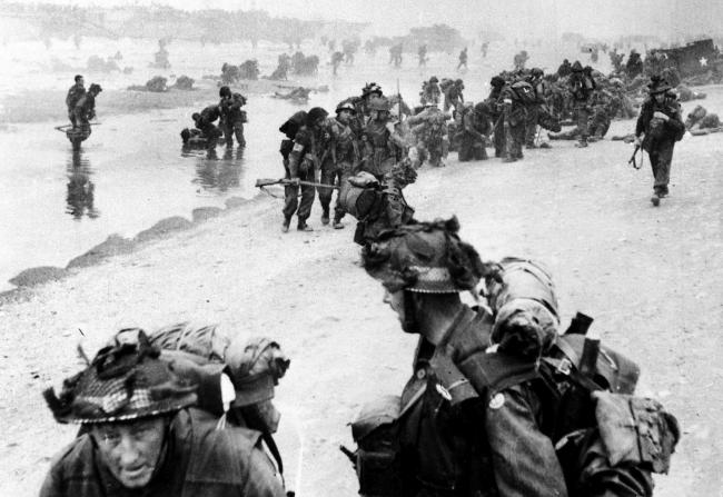 Allied forces begining the D-Day landings in Normandy, France. PA Photo: IMPERIAL WAR MUSEUM COPYRIGHT.