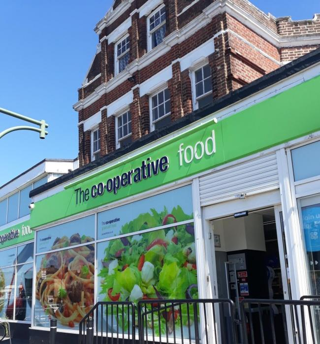 front of co-op store on Shirley road