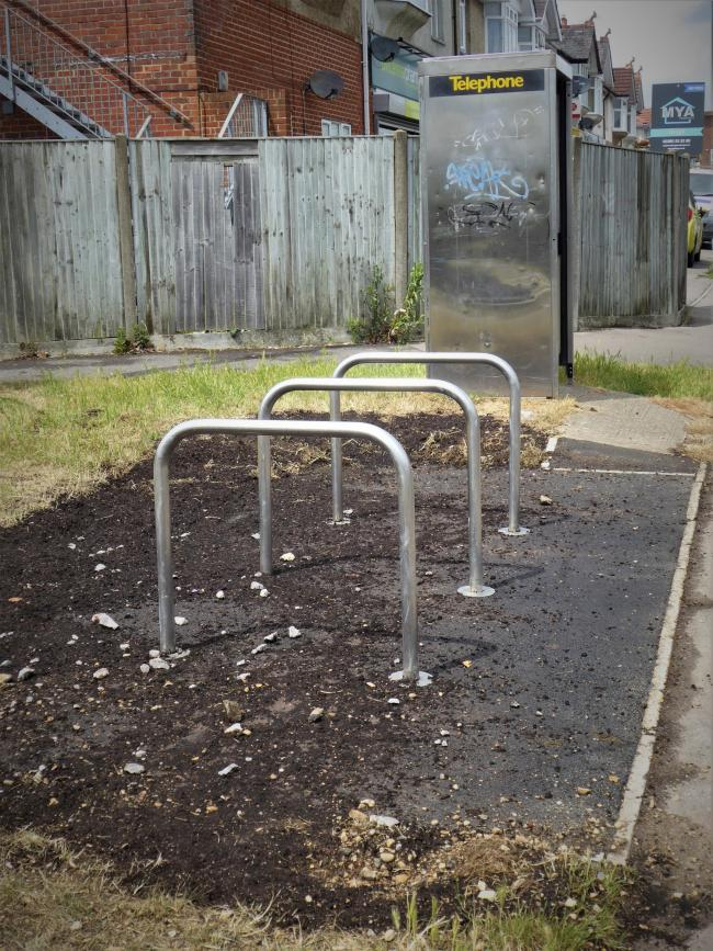 The offending cycle rack