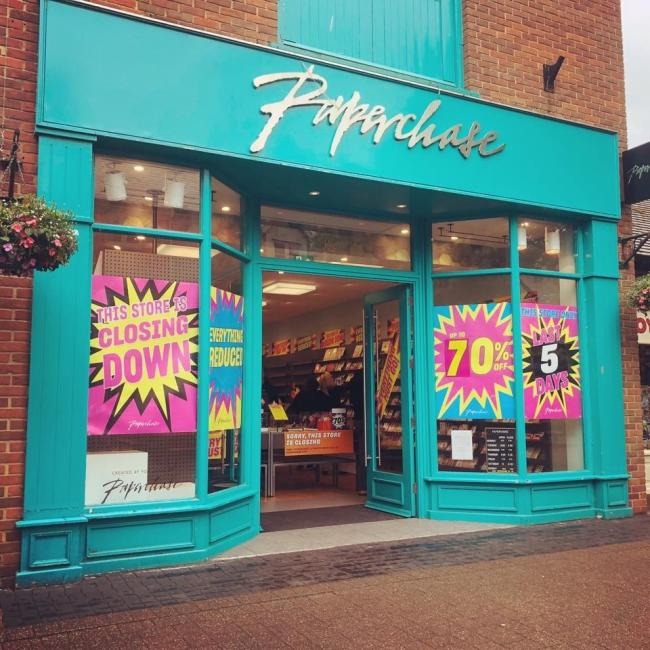 The Paperchase shop in Ringwood.