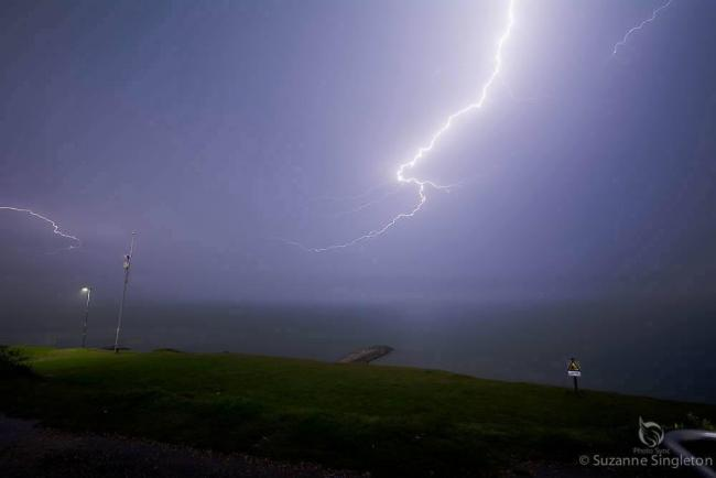 Lightning over Barton-On-Sea, New Milton and Highcliffe. Photo: Suzanne Singleton/ Daily Echo Camera Club